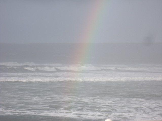 Rainbow waves Lahinch North end of beach