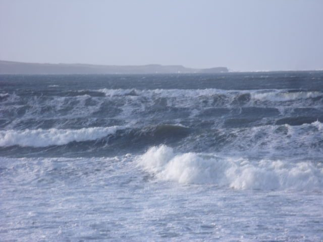 Waves at South end of Lahinch Beach