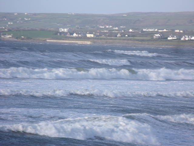 Waves looking North at Lahinch Beach
