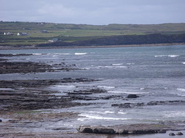 Flat as a pancake at the southern end of Lahinch