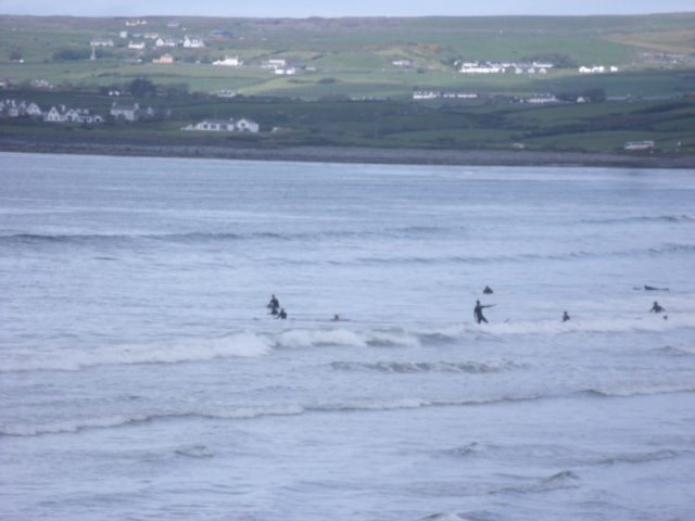 Perfect waves for the absolute beginners on the main beach