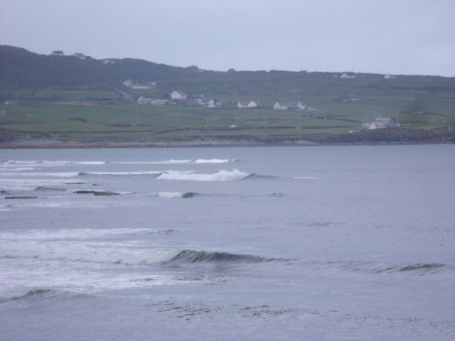 Waves on the reef at the south end of Lahinch