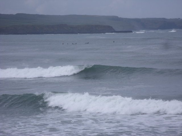 6 foot clean waves on the reefs at the south of Lahinch