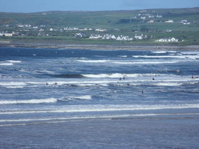 messy but surfable on the main beach