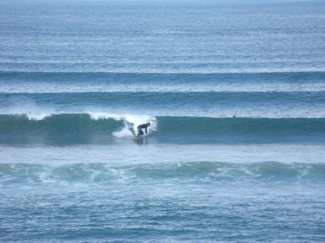 2 foot clean waves in front of the shop