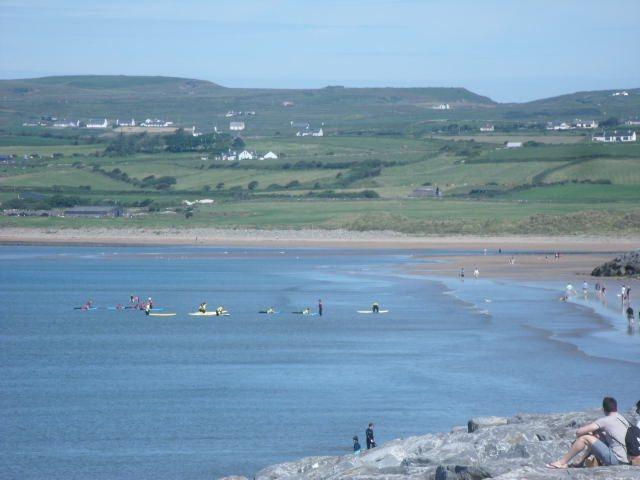 Flat calm on the main beach