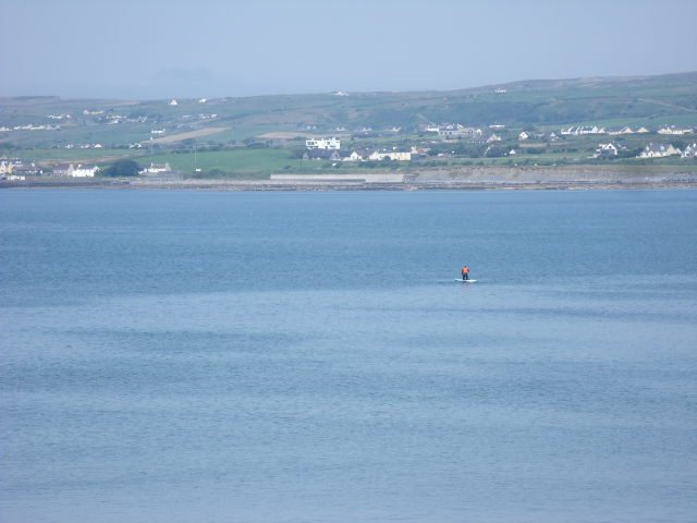 The whole bay is flat calm