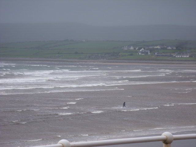 messy 2 foot waves on the main beach