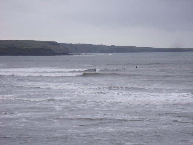 waves at cornish point, lahinch
