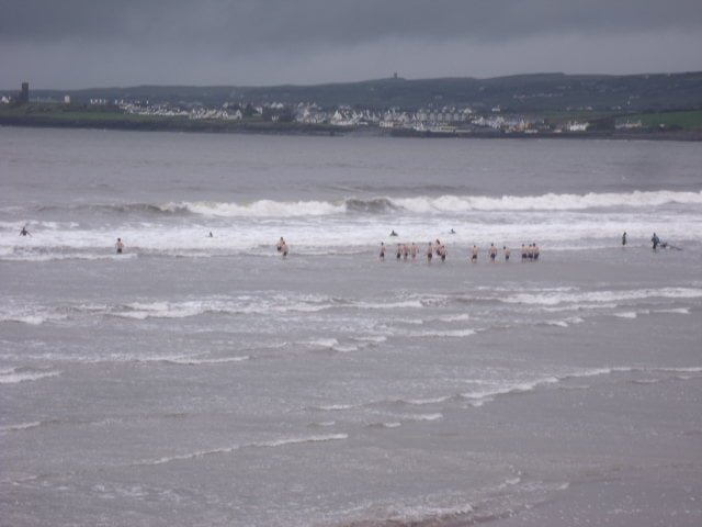 waves in centre of Lahinch Beach