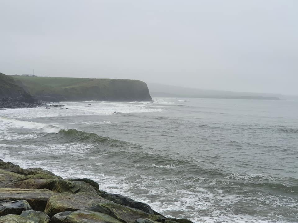 South end of Lahinch Beach in misty conditions