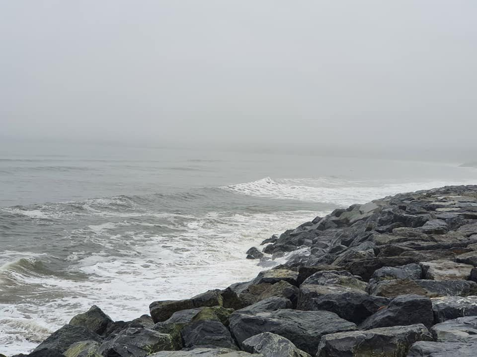 North end of Lahinch beach hidden by the mist