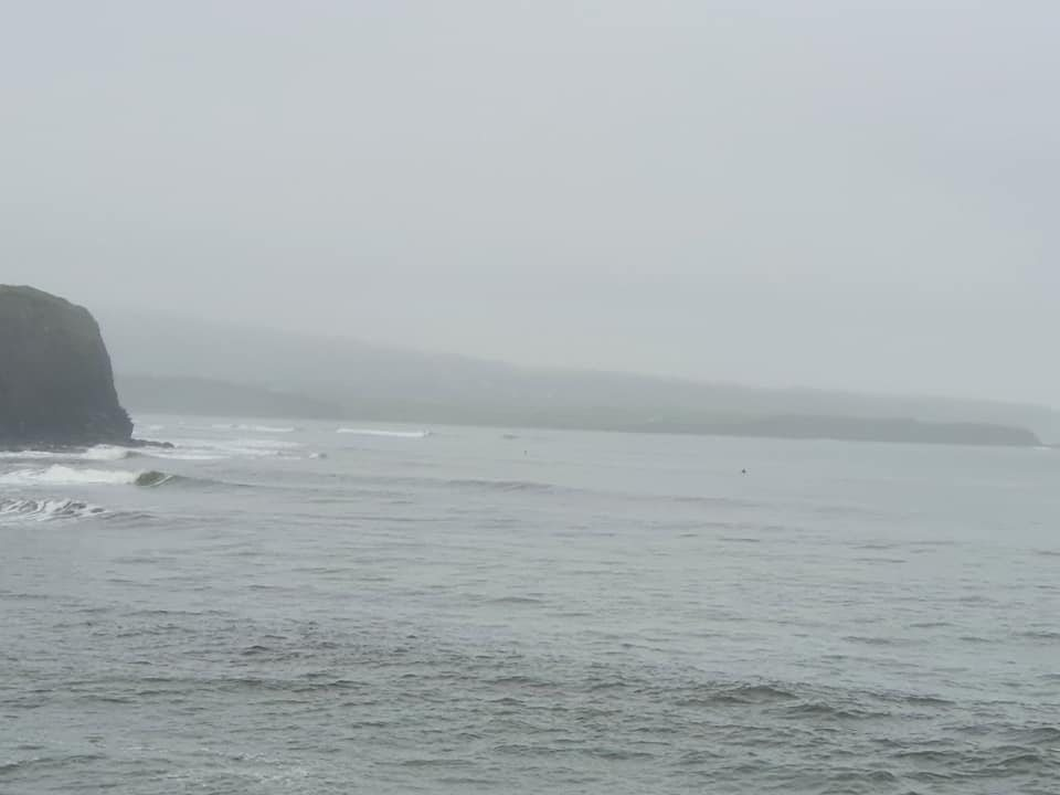 Cregg waves just about visible through the mist