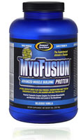 "MyoFusuion Great tasting Advanced Muscle Building Protein, When it comes to the REAL nutritional needs of bodybuilders and athletes alike, there is little doubt what ""legitimate"" science has to say about the different protein sources available in the supplement marketplace. Unfortunately, this has little to do with the marketing message spread by most sellers of protein supplements today. The competition between companies is fierce and the drive to sell more protein by differentiating a product by any means necessary (whether it's legitimate science or not) is prevalent to say the least. MyoFusion� delivers only the highest and most legitimately bioavailable proteins in existence� � hard and fast!*"