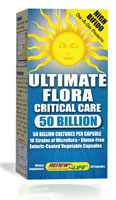 Ultimate Flora� Critical Care 50 Billion is a probiotic formulated specifically for people who are engaging in or have recently completed a course of antibiotics.