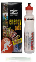 The SIS Energy Pack conatins a sample of every Science in Sport energy product, along with a free bottle to mix them up in.