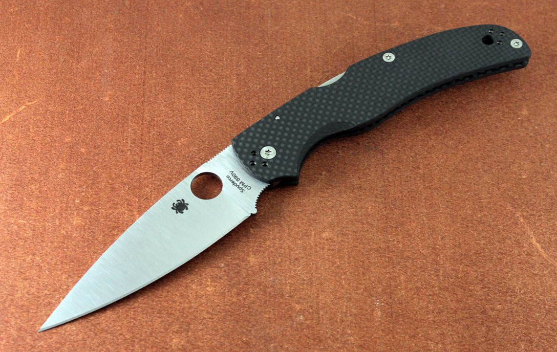Spyderco Native Chief Sprint Run Carbon Fiber Scales S90V Blade Steel