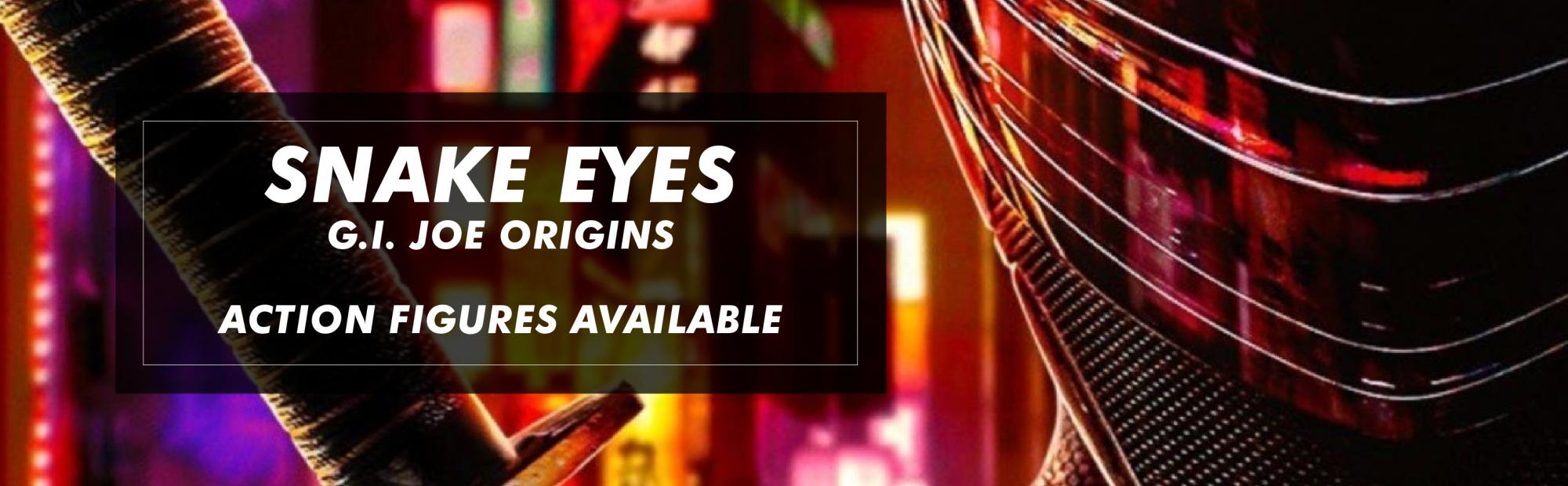 Snake Eyes G.I. Joe Origins Action Figures