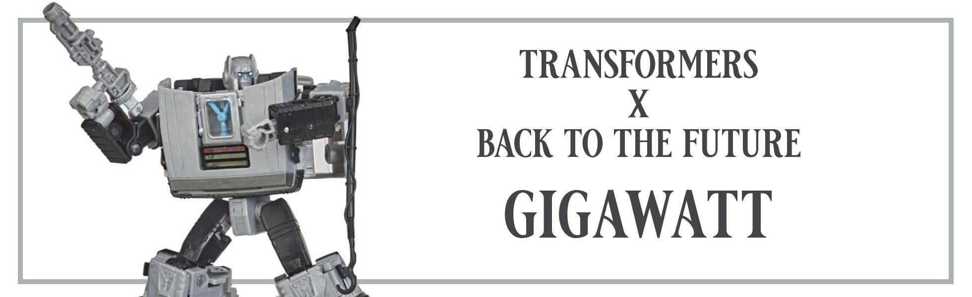 Transformers x Back to the Future Gigawatt Action Figure