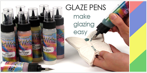 glaze super writer by Spectrum for pottery