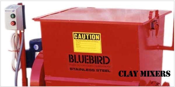 bluebird clay mixers, Soldner mixers, clay mixer, industrial mixer, professional mixer, bluebird 12s, bluebird 24s