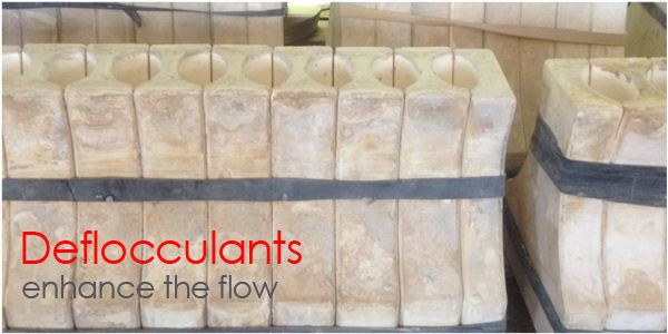 Deflocculants for slip casting in ceramics