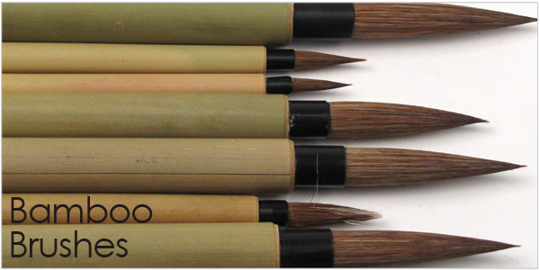 bamboo paint brushes for ceramics and pottery