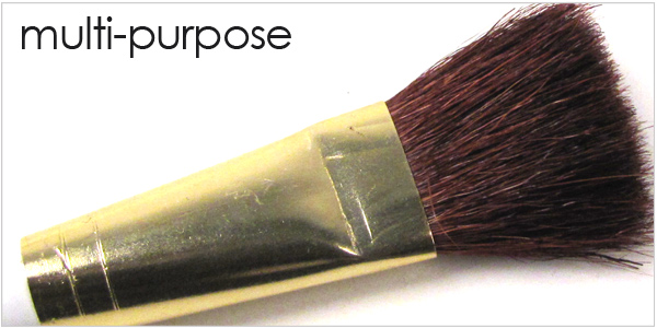 Multipurpose brushes for use in the ceramic or pottery studio