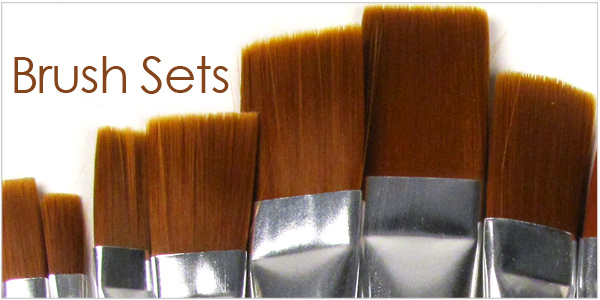 Paint brush sets for pottery and art supplies
