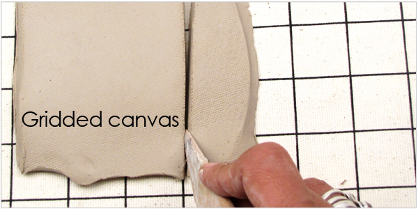 Canvas with grid for art and ceramic supplies