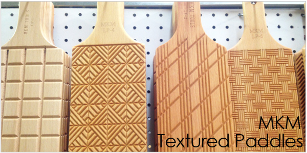 MKM Textured Paddles for pottery
