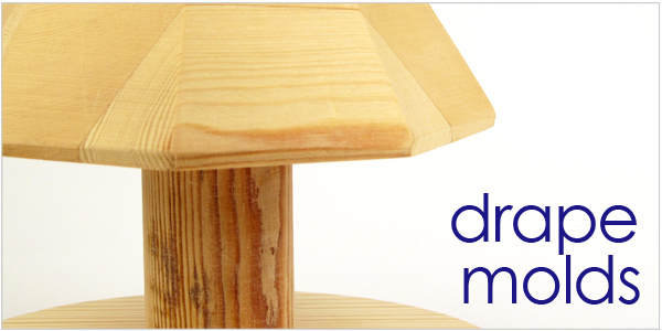 wooden drape molds for handbuilding and pottery